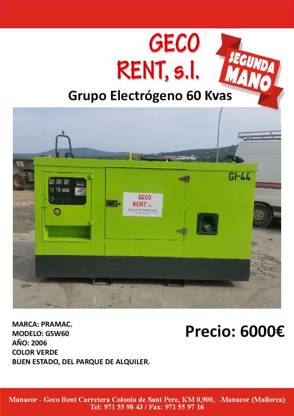 Cartel Venta Grupo3 geco baja
